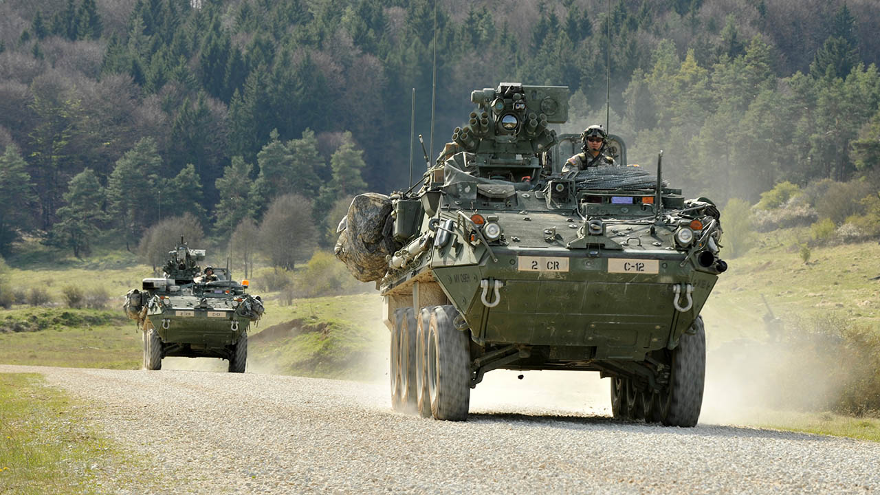 US Army 2nd Cavalry Regiment Strykers In Germany