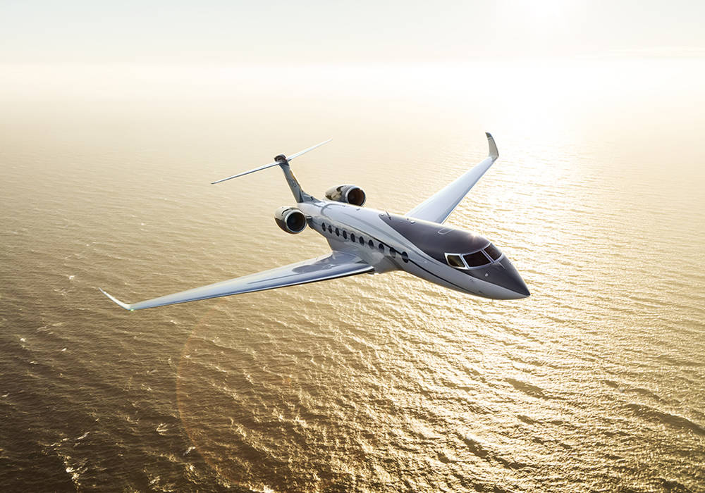rendering of G700 flying over ocean